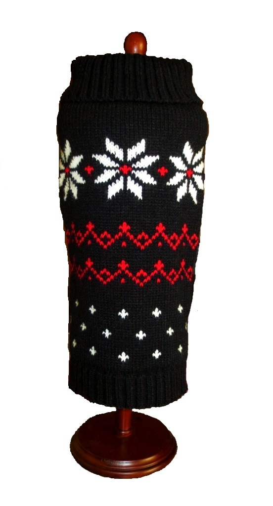Black Fair Isle Snowflake