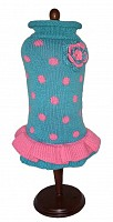 Turquoise/Pink Polka Dot Party Dress
