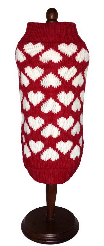Red/White Hearts sweater