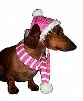 Bubblegum Pink Dog Hat & Scarf