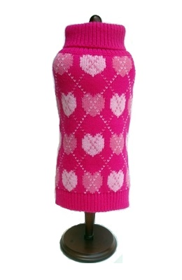 Pink Argyle Hearts Sweater