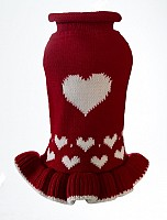 Red Heart Sweater Dress