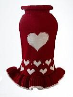 Red Heart Sweater Dress