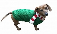 Candy Cane Scarf Sweater