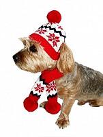 Snowflake Dog Hat & Scarf